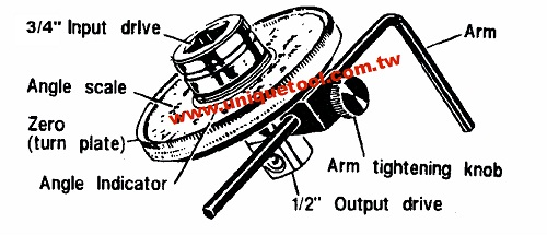 un11014-angular torque gauge 3  4 u0026quot  dr